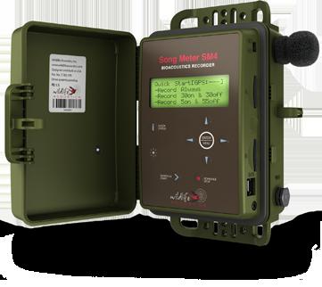 Song Meter SM4, Wildlife Acoustics recording device.