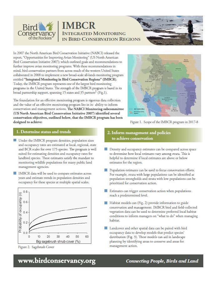 IMBCR Factsheet Cover