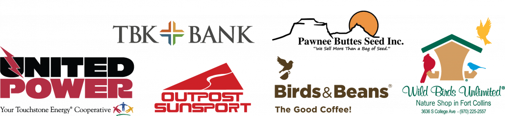 Special thank you to our Event Sponsors: United Power, TBK Bank, Pawnee Butte Seed Inc., Birds & Beans Coffee, Outpost Sunsport, and Wild Birds Unlimited Nature Shop in Fort Collins.
