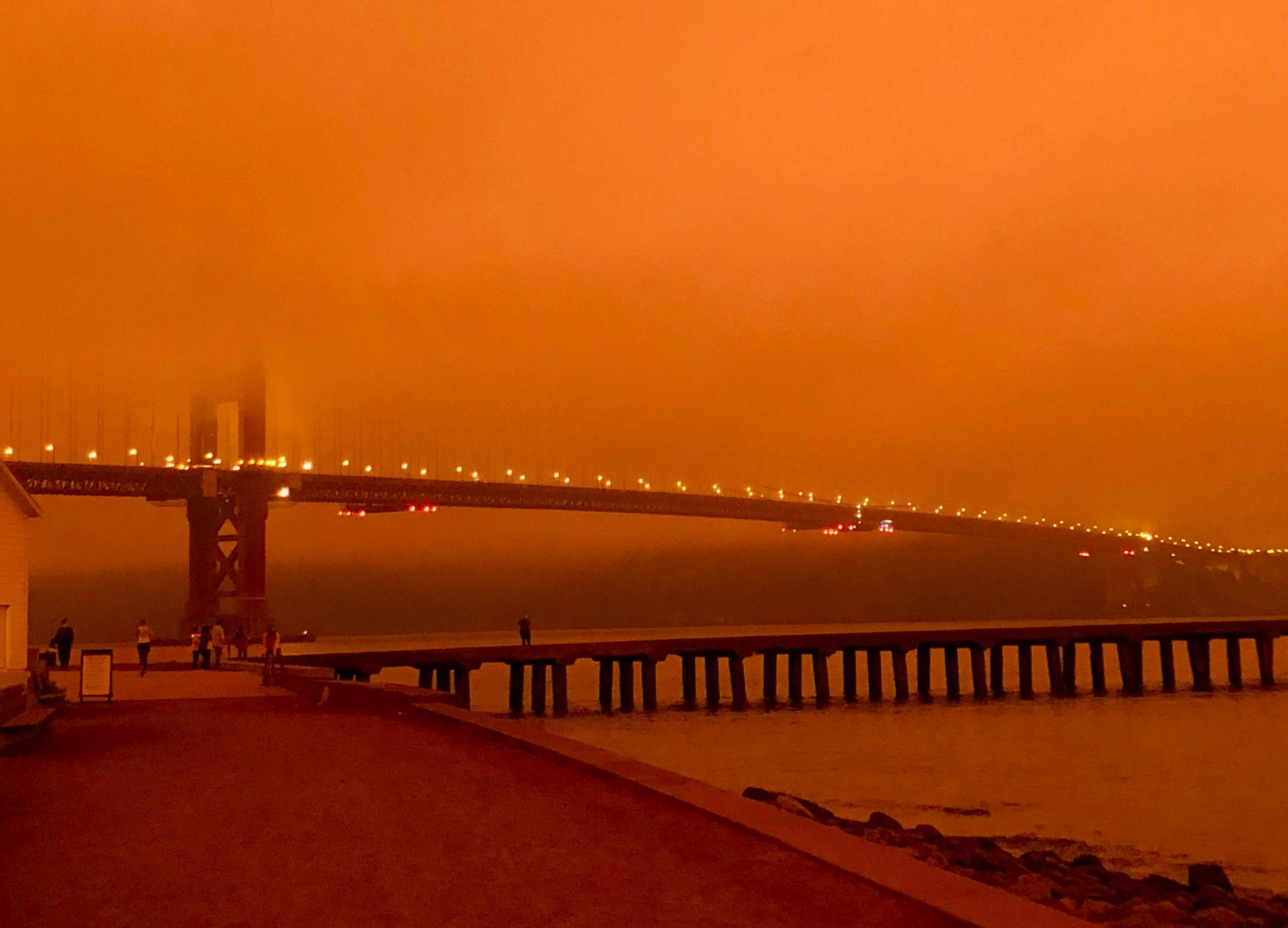 Late summer's wildfires in California shrouded the Bay area in a smoky haze, blotting out the sun. Photo: Michael Sturtevant (September, 2020)