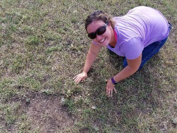 Jenn discovers a Horned Lark nest