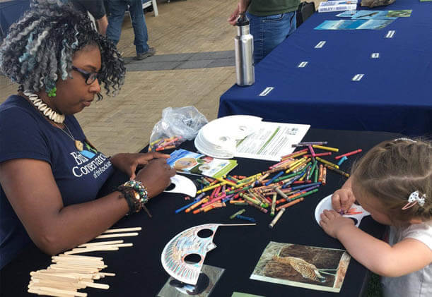 Education volunteer at program